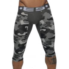 BOXER LONG 3/4 CAMOUFLAGE GRIS UN092 - ES COLLECTION