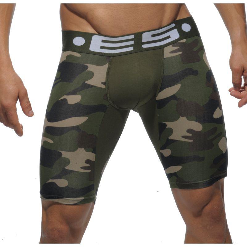 boxer mi long camouflage vert un094 es collection. Black Bedroom Furniture Sets. Home Design Ideas
