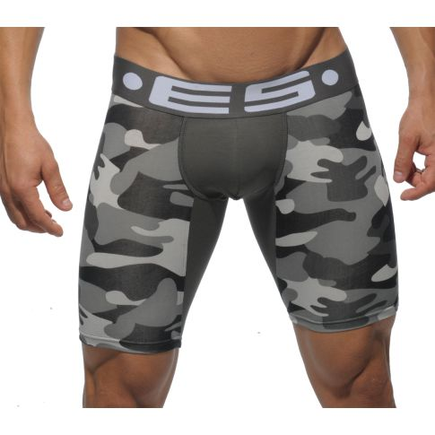 BOXER MI LONG CAMOUFLAGE GRIS UN094 - ES COLLECTION