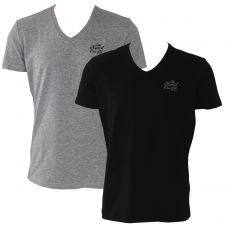 T-SHIRT LOT DE 2 - GRIS CHINE / NOIR - KAPORAL
