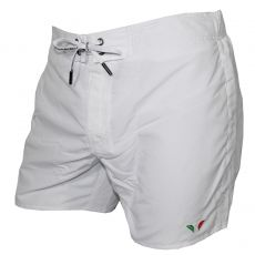 SHORT DE BAIN MEDIUM BLANC LOGO EAGLE - ARMANI