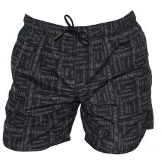 SHORT DE BAIN MEDIUM NOIR LOGOTE - ARMANI