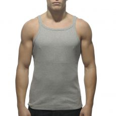 DEBARDEUR GRIS RIB TANK TOP  AD324 - ADDICTED