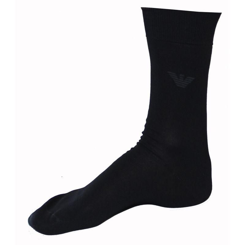 chaussettes hautes coton noires unis armani. Black Bedroom Furniture Sets. Home Design Ideas