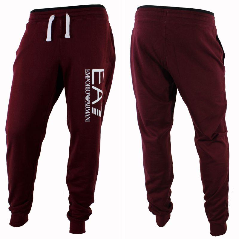 pantalon de sport jogging train fight bas elastique bordeaux ea7. Black Bedroom Furniture Sets. Home Design Ideas