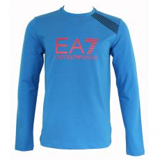 T-SHIRT MANCHE LONGUE COL ROND TRAIN 7 COLOURS BLEU ROYAL - EA7