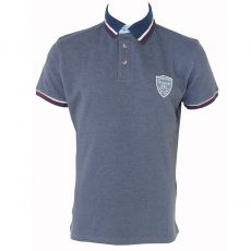 POLO HOMME FILL MARINE - KAPORAL