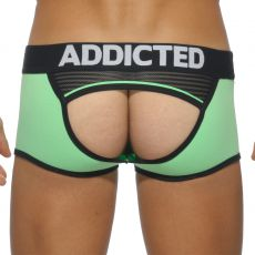 BOXER BOTTOMLESS VERT/GRIS HERRINGBONE AD371 - ADDICTED
