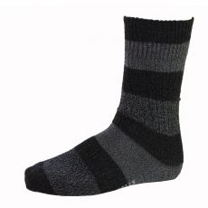 CHAUSSETTES GROSSES MAILLES RAYE ANTHRACITE - LEVIS