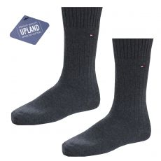 CHAUSSETTES PACK 2 PAIRES UPLAND PREMIUM QUALITY GRIS - TOMMY HILFIGER