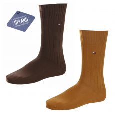 CHAUSSETTES PACK 2 PAIRES UPLAND PREMIUM QUALITY CAMEL / BRUN - TOMMY HILFIGER