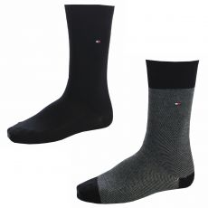 CHAUSSETTES MARINES MAILLES MOYENNES - TOMMY HILFIGER