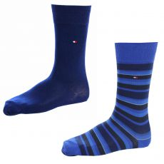 CHAUSSETTE PACK 2 PAIRES MARINE / BLEU ROYAL RAYURES TOMMY HILFIGER
