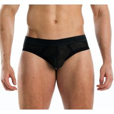SLIP NOIR EN DENTELLE ABSTRACT - MODUS VIVENDI