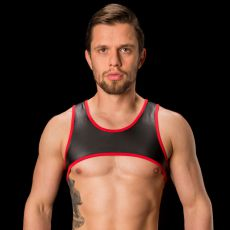 HARNESS LENNY NOIR/ROUGE - BARCODE