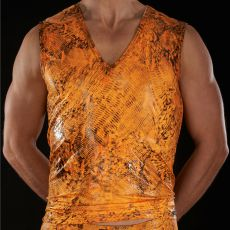 TSHIRT GLOSSA V-DOCKERSHIRT ORANGE - BODYART