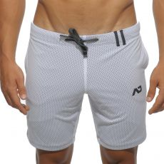 SHORT BLANC LOOP MESH  AD357 - ADDICTED