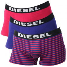 PACK DE 3 BOXERS FUSHIA/VIOLET/RAYURES - THE SEASONAL - DIESEL