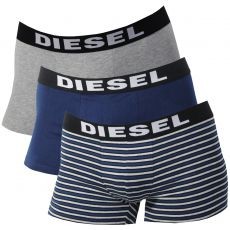 PACK DE 3 BOXERS GRIS/NAVY/RAYURES - THE SEASONAL - DIESEL