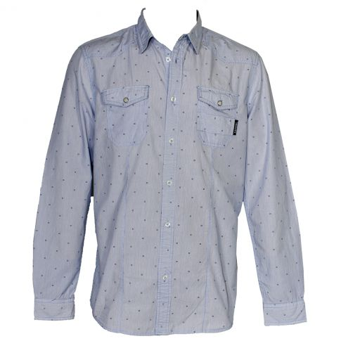 CHEMISE WORKWEAR BLEU A FINES RAYURES - FUSEDE - KAPORAL