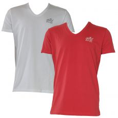 T-SHIRT LOT DE 2 - BLANC / ROUGE - KAPORAL