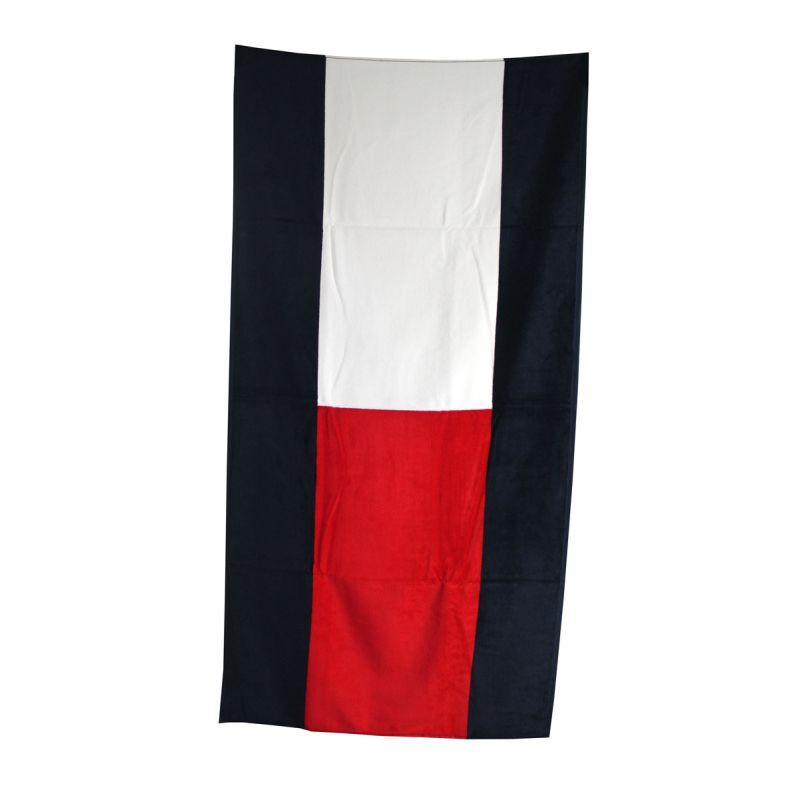 drap de bain navy blanc rouge tommy hilfiger. Black Bedroom Furniture Sets. Home Design Ideas