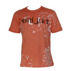 T-SHIRT ORANGE FRESH COL ROND - DESIGUAL