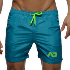 SHORT DE BAIN LONG CLASSIC  VERT COBALT  ADS073 - ADDICTED