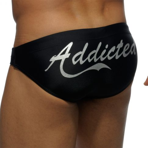 SLIP DE BAIN  PLATINIUM NOIR  ADS093 - ADDICTED