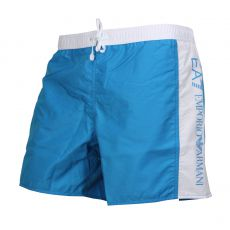 SHORT DE BAIN COURT BI COLOR TURQUOISE/BLANC - EA7