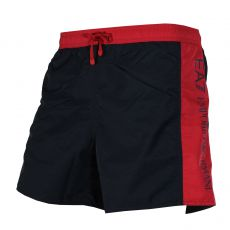 SHORT DE BAIN COURT BI COLOR MARINE/ROUGE - EA7