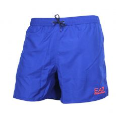 SHORT DE BAIN COURT BLEU ROYAL LOGOTE - EA7