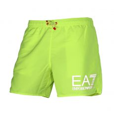SHORT DE BAIN COURT JAUNE FLUO GRAND LOGO - EA7