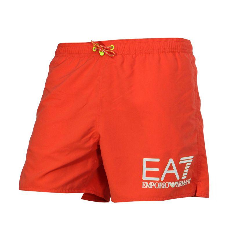 short de bain court orange fluo grand logo armani ea7. Black Bedroom Furniture Sets. Home Design Ideas