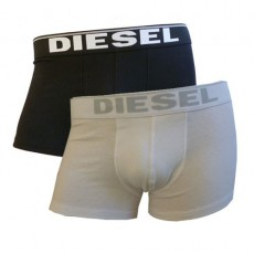 PACK DE 2 BOXER DIESEL NOIR et BLANC -THE ESSENTIAL