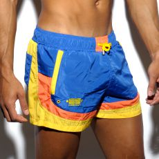 SHORT DE BAIN JAUNE/BLEU FRED ROUND SIDES 1651 - ES COLLECTION