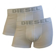 DIESEL LOT DE 2 BOXERS BLANC ESSENTIAL COTTON STRETCH