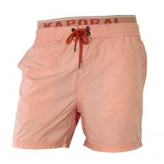 SHORT DE BAIN TOBY SOZYE NEON ORANGE DOUBLE CEINTURE - KAPORAL