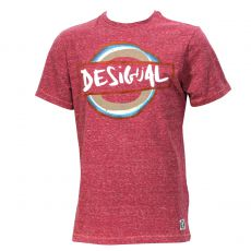 T-SHIRT ROUGE SUBURBANO COL ROND - DESIGUAL