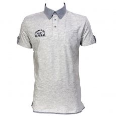 POLO HOMME FEDYE GRIS CHINE - KAPORAL