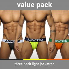 PACK DE 3 JOCK STRAP LIGHT MICROFIBRE - ADDICTED