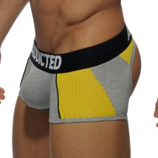 BOXER BOTTOMLESS GRIS COMBI MESH - AD407  ADDICTED
