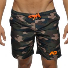 SHORT DE BAIN CAMOUFLAGE  MI LONG ADS095 - ADDICTED