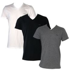 PACK DE 3 T-SHIRTS COTON NOIR/GRIS/BLANC COL V - DIESEL