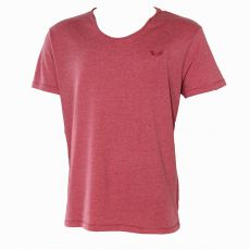 T-SHIRT SALVAE  ROUGE MANCHES COURTES COL ROND TISSU FIN  - KAPORAL