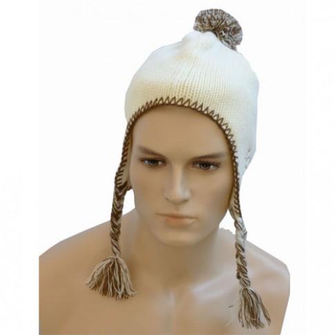 Bonnet péruvien - EROIK - BLANC