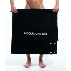 SERVIETTE DE PLAGE / PAREO TOWEL NOIR S1630 - MODUS VIVENDI