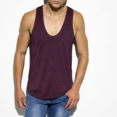 DEBARDEUR EMBRODERY AUBERGINE DOS NAGEUR TS144 - ES COLLECTION