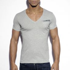 T-SHIRT MILITARY GRIS COL V TS120 - ES COLLECTION