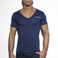 T-SHIRT MILITARY NAVY COL V TS120 - ES COLLECTION